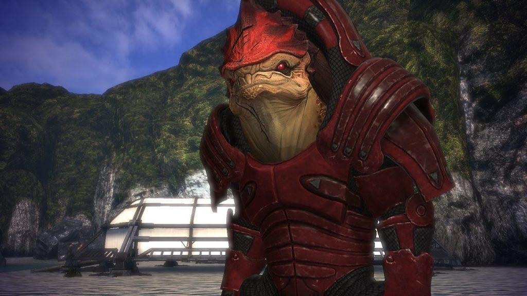 Wrex's tropical vacation was ruined by genocide.