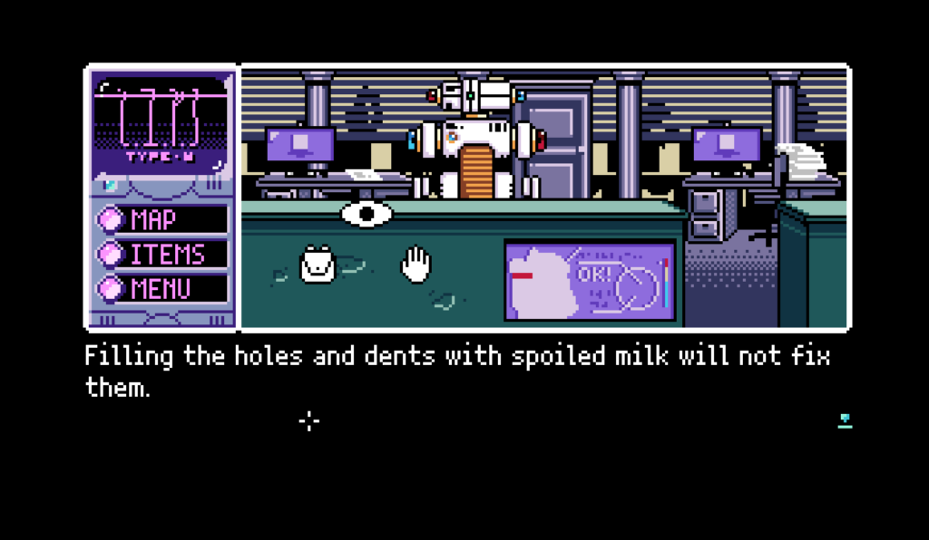 There is a unique response for using spoiled milk on every hotspot in the game. There are hundreds of them. It's pretty incredible.